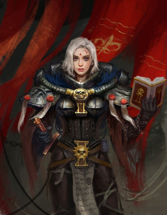 "Sister Rahana Shrike - Adeptus Sororitas ""Order of the Sacred Rose"""