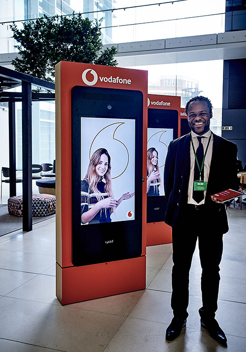 Vodafone Paddington: By streamlining routine tasks like checking-in, a Vgreet system means front of house staff are free to help visitors.