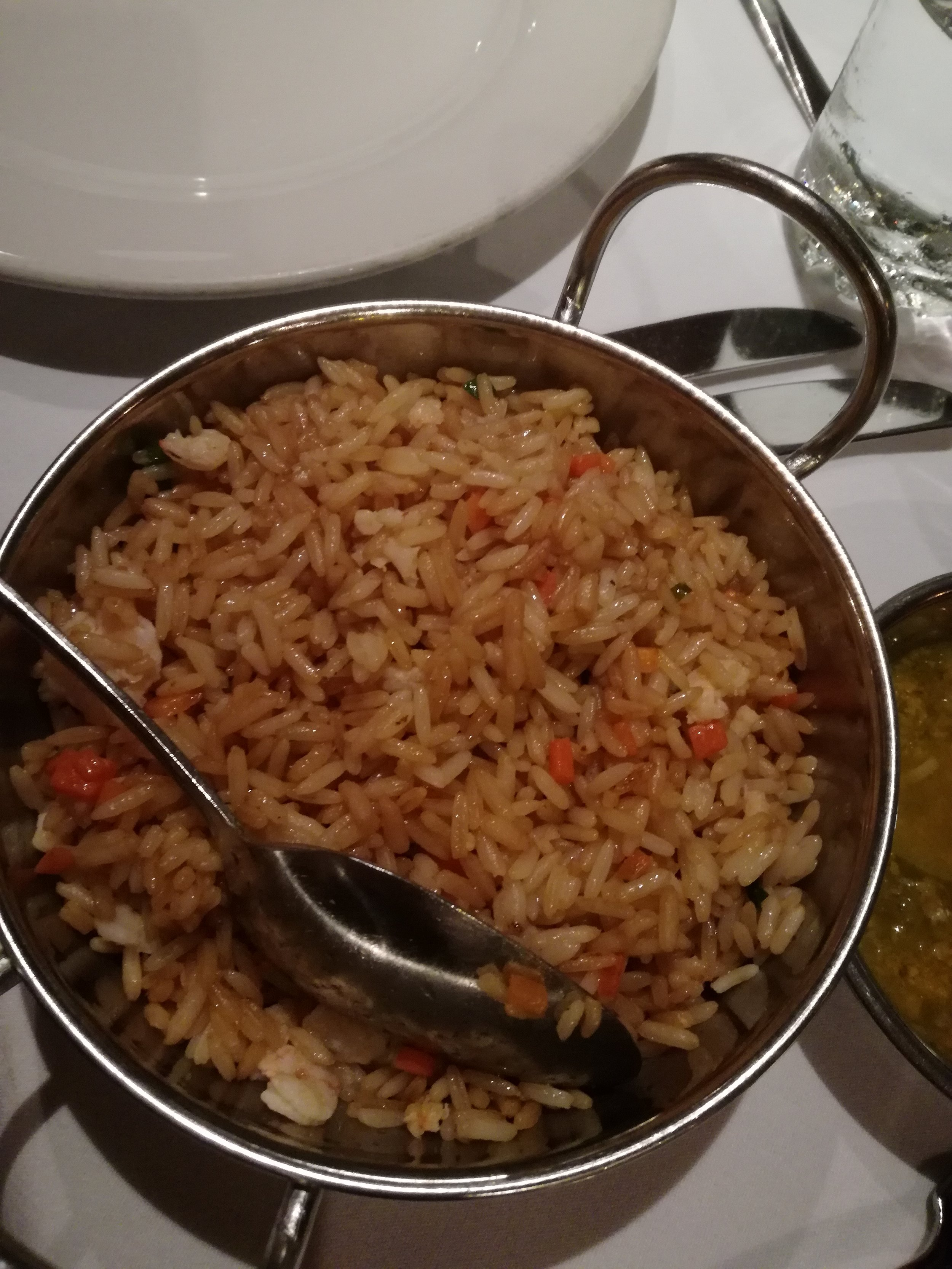 Shrimp Fried Rice - 2 portions pictured.  TT$20 per portion before SC and VAT