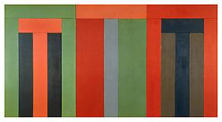 Marden, Epitaph Painting 5 1997-2001 Oil on linen 108 1/2 x 104 inches