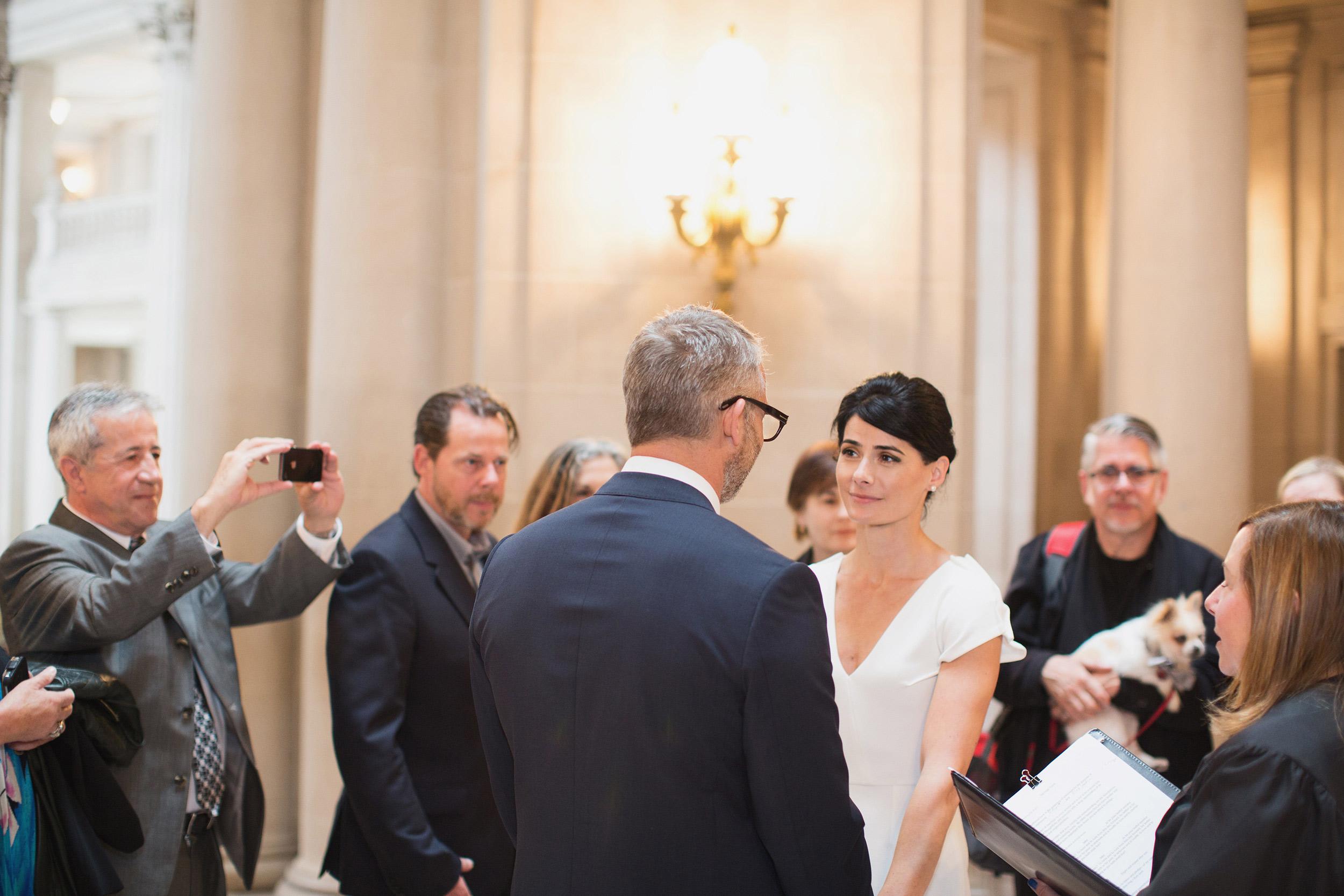 san francisco city hall civil wedding ceremony