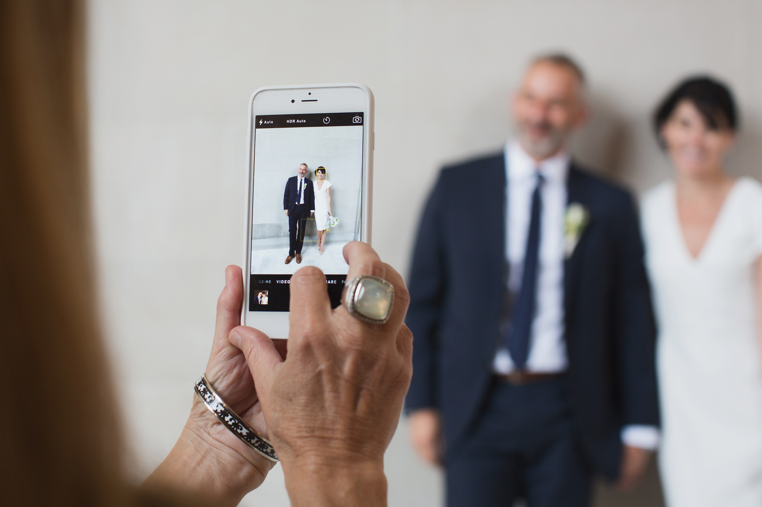 Bride and groom at San Francisco City Hall iPhone photo