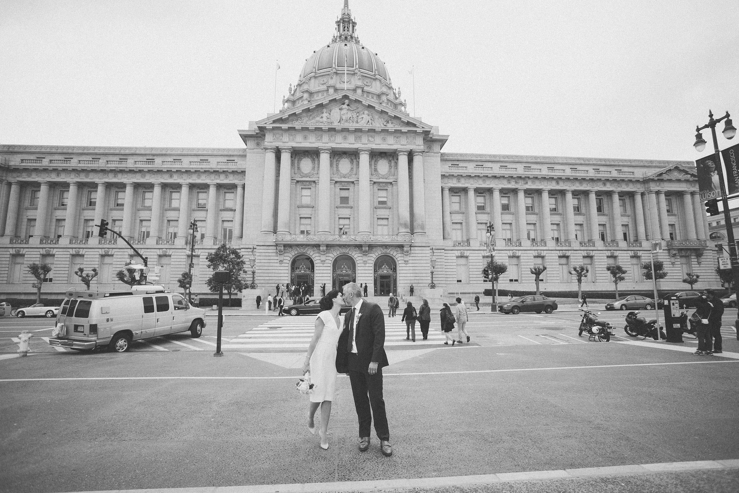 San Francisco City Hall Wedding front of building