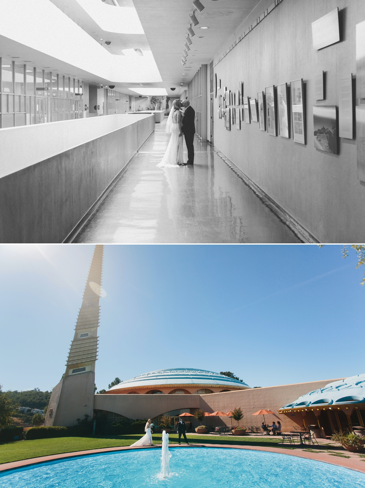 The super 60's style of the Marin Civic Center looks like something from the Jetsons!