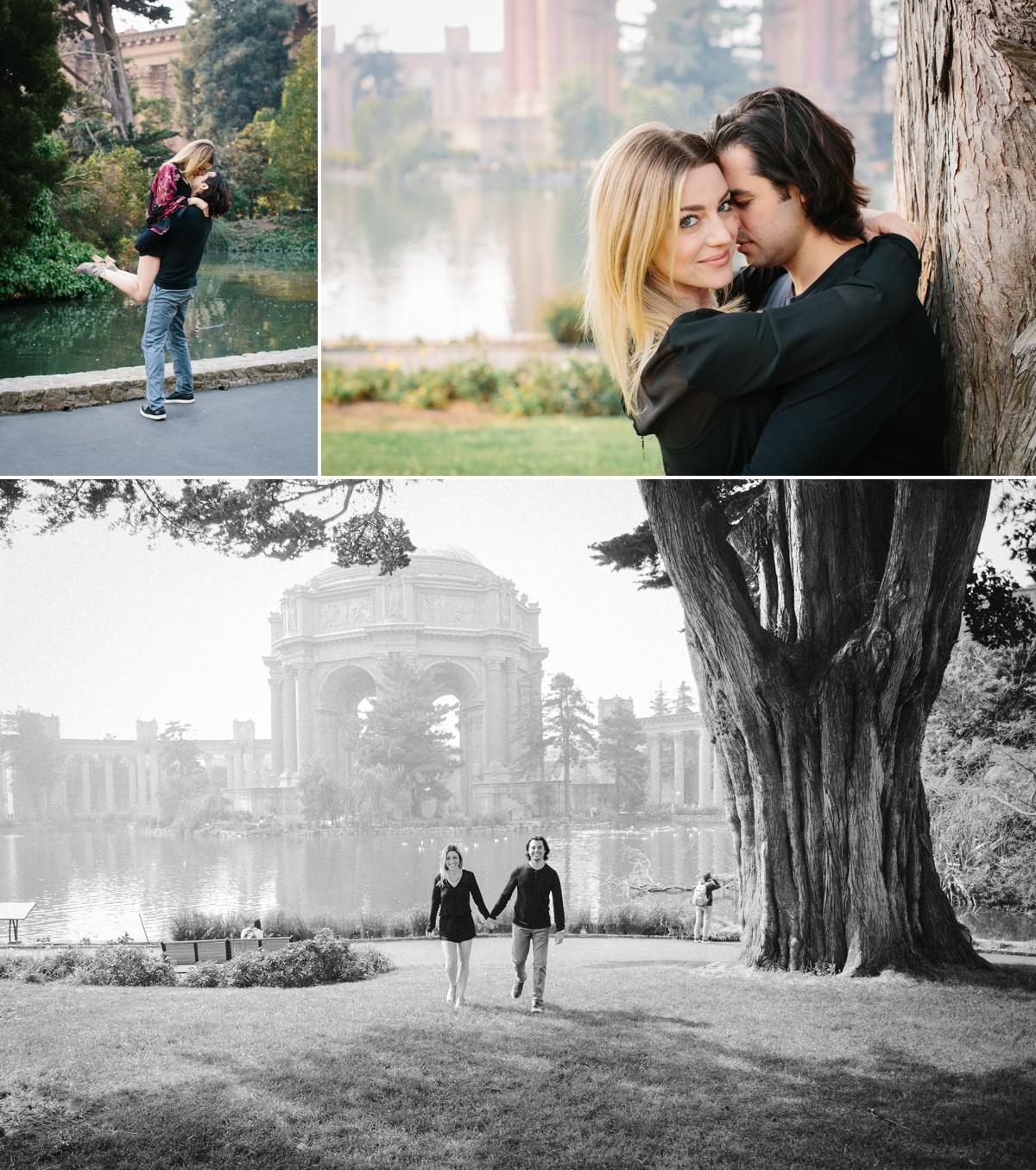 Palace of Fine Art engagement photos.