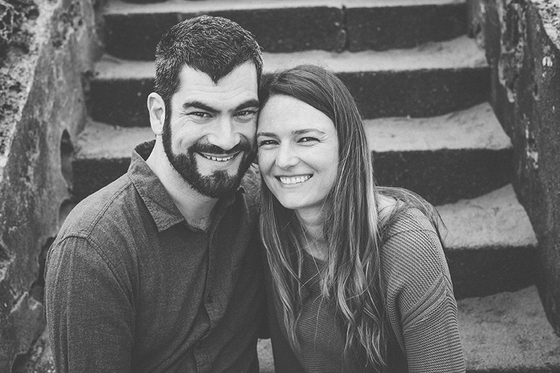 Sutro Baths engagement session in San Francisco.