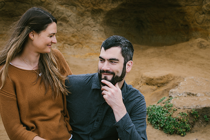 Alex being a ham for the camera. A San Francisco engagement session.