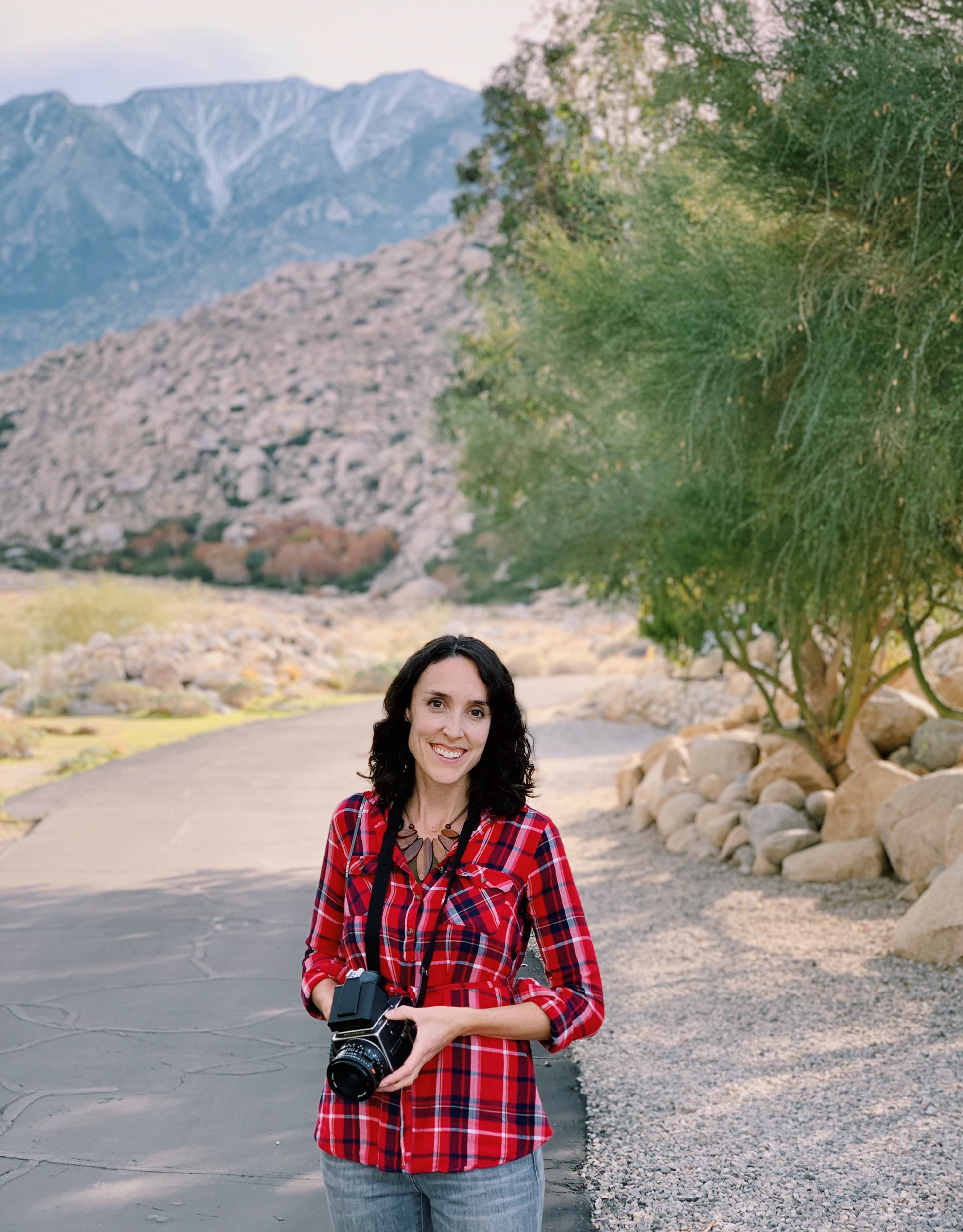 Wedding and Portrait Professional Photographer Sonya Yruel in Palm Springs California with her Hasselblad