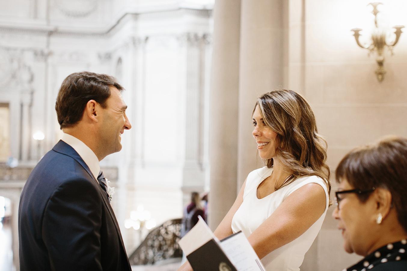 A civil ceremony at San Francisco City Hall