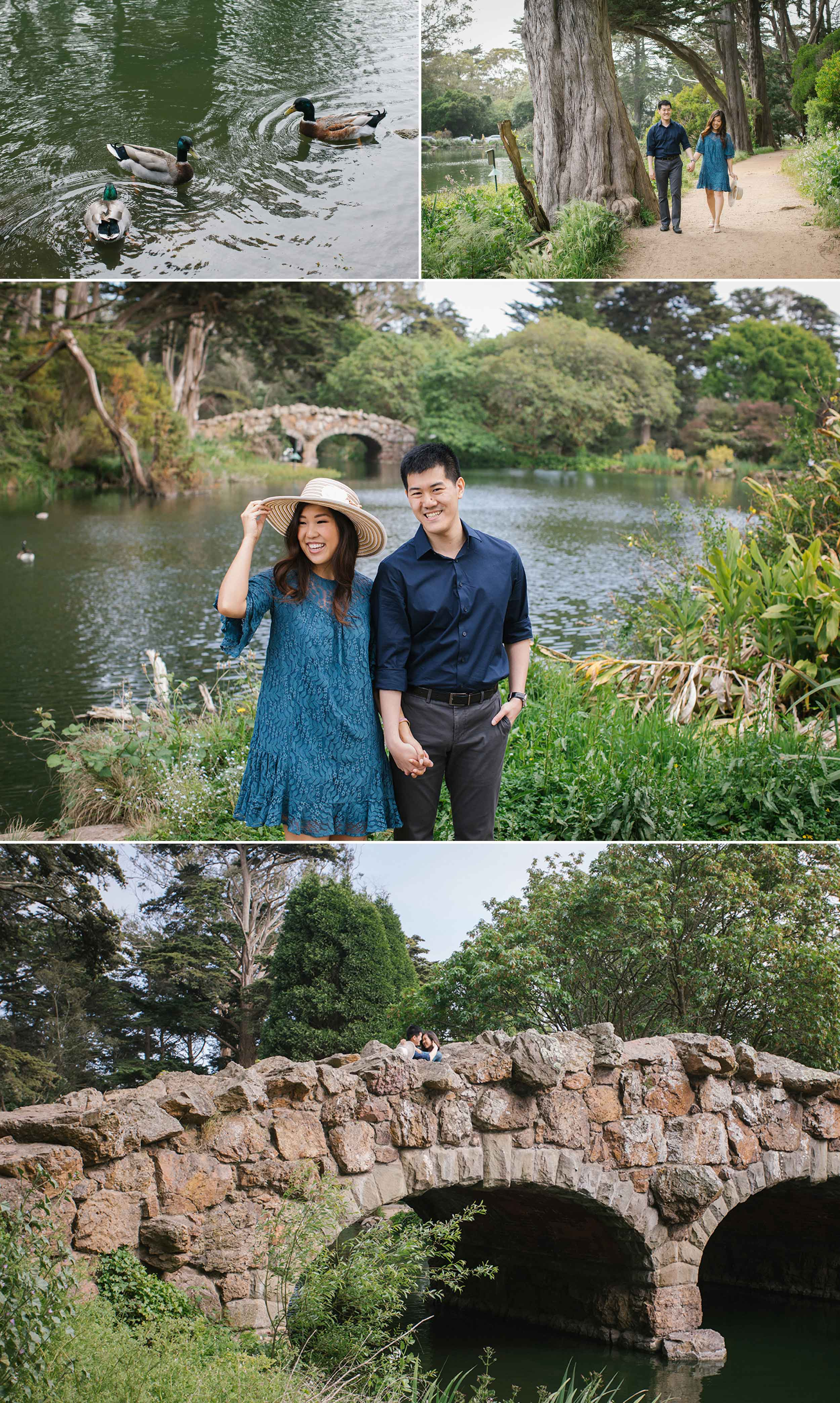 The stone bridge at Golden Gate Park's Stow Lake is a great spot for engagement sessions!