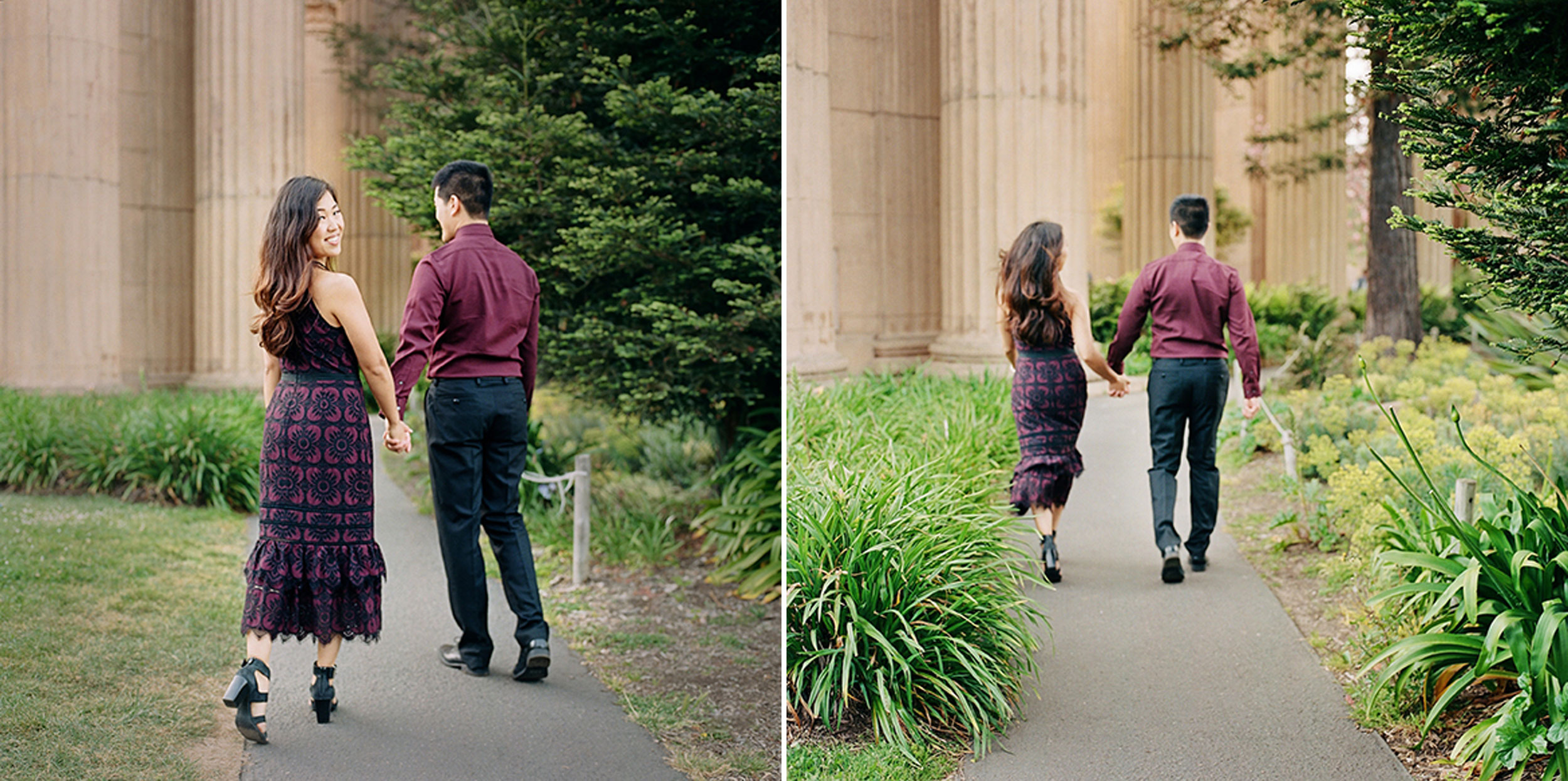 Final shot! Off running at the Palace of Fine Arts for this engagement session.