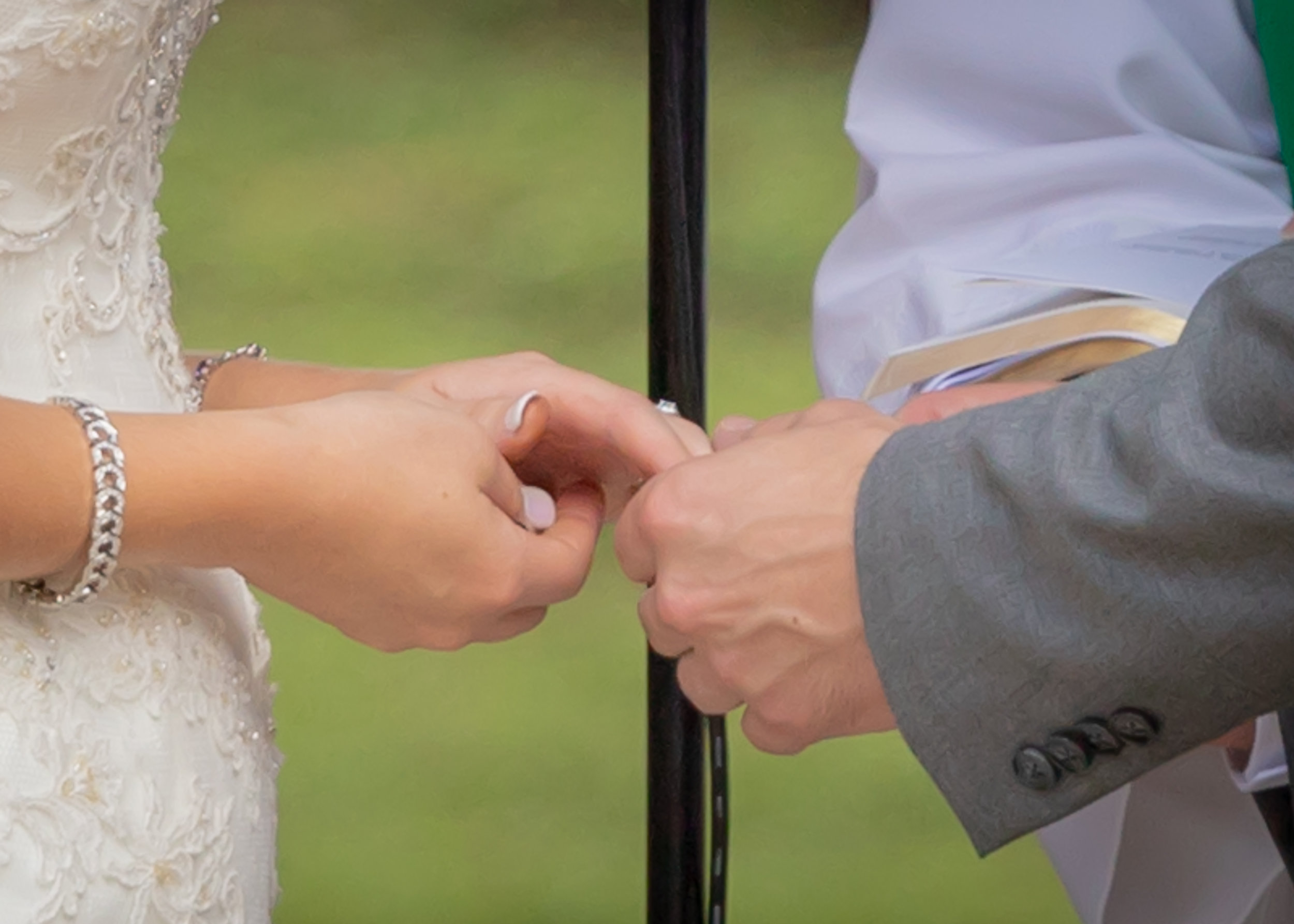 Hale Wedding the ring