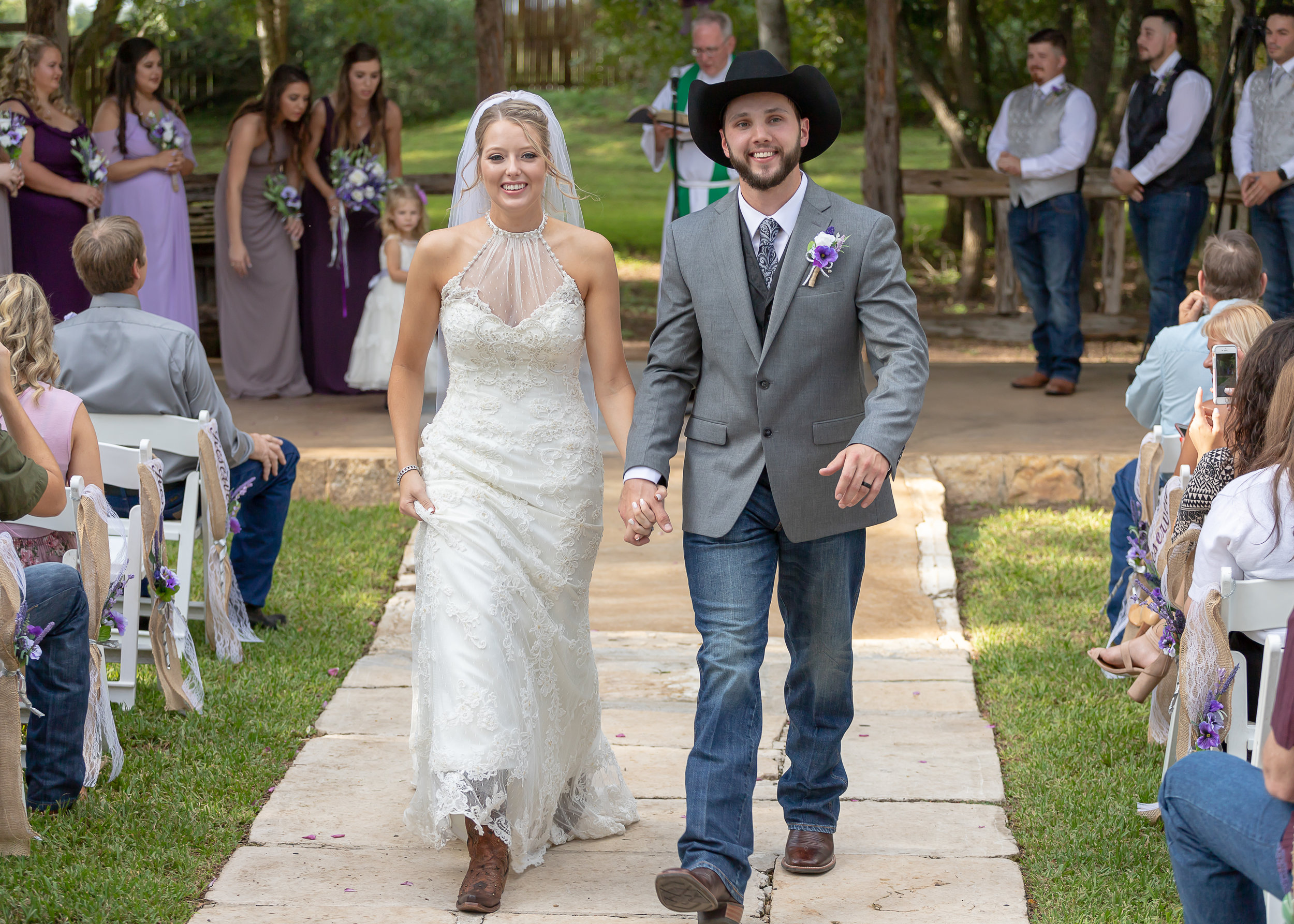 The Hale Wedding walking out