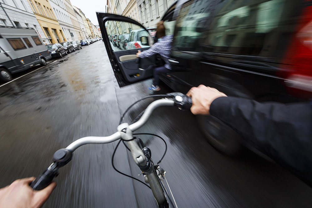 Stopping a heavier bike at fast speeds takes distance. Don't exceed your bike's capabilities!