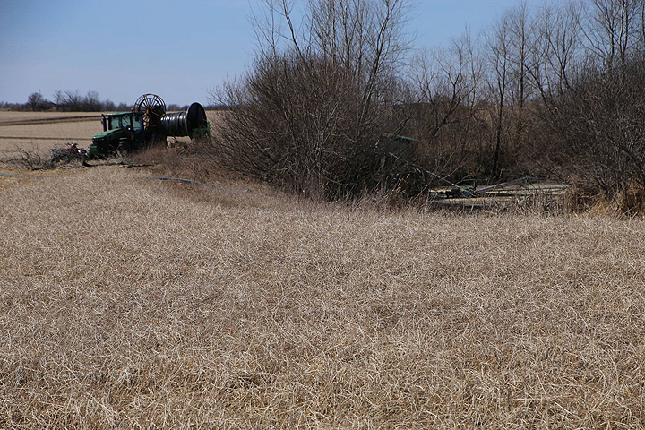 The site of the clean-up where manure water escaped to the groundwater.