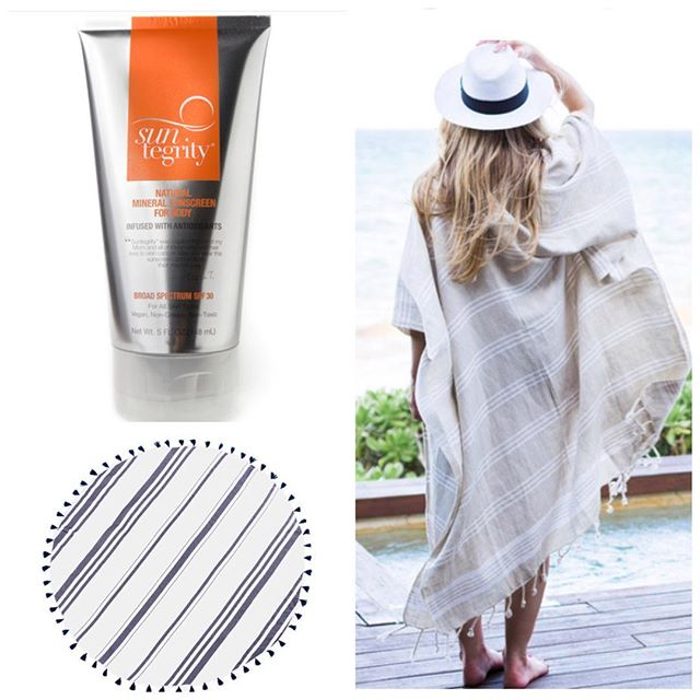 "Mother's Day is a week away and we are in full mode of providing the sweetest gift! Our @turkisht linen kimonos and round beach towels have arrived for Mom to sun in style! Least we forget our natural sunscreen by @suntegrity ☀️! ""Suntegrity was made in honor of my Mom and all those who lost their lives to skin cancer. May you wear this sunscreen and smile in their memory"" - Tricia (creator of Suntegrity)"