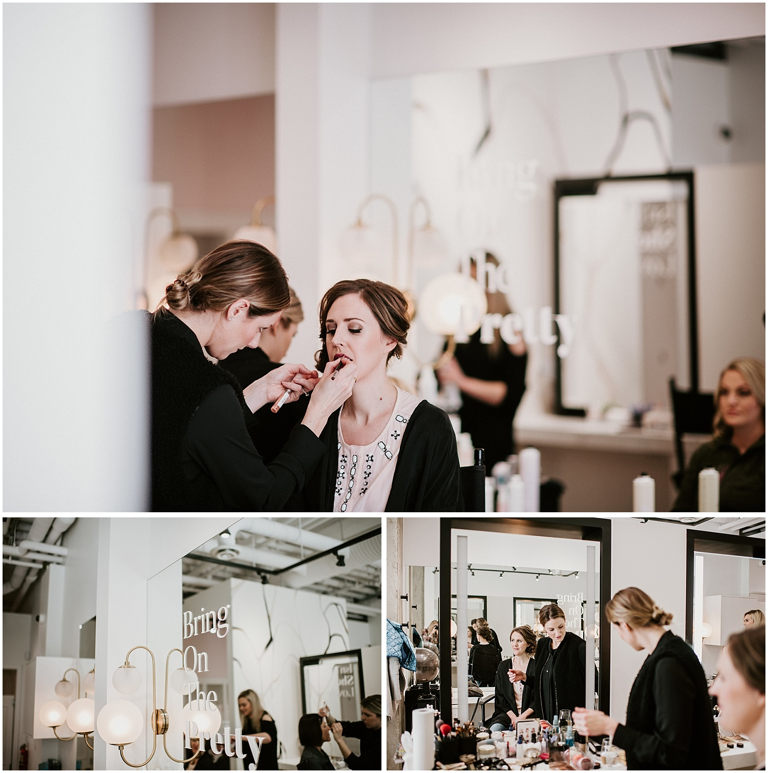 denise elliot getting ready wedding photography stacie carr makeup artist intimate wedding portrait