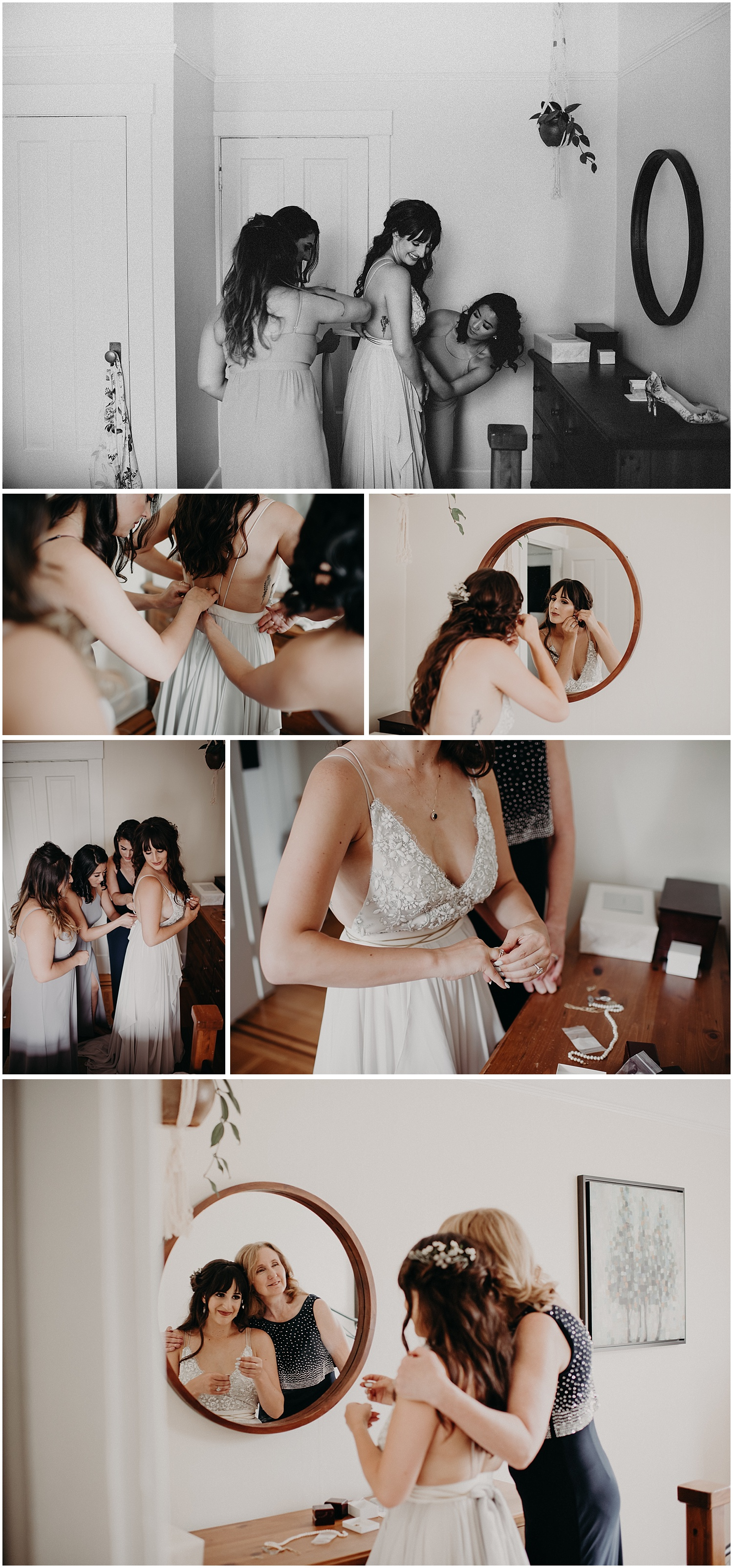downtown vancouver apartment wedding getting ready photos