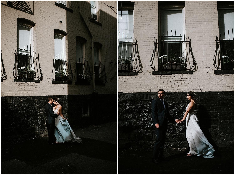 downtown vancouver urban wedding couple photos