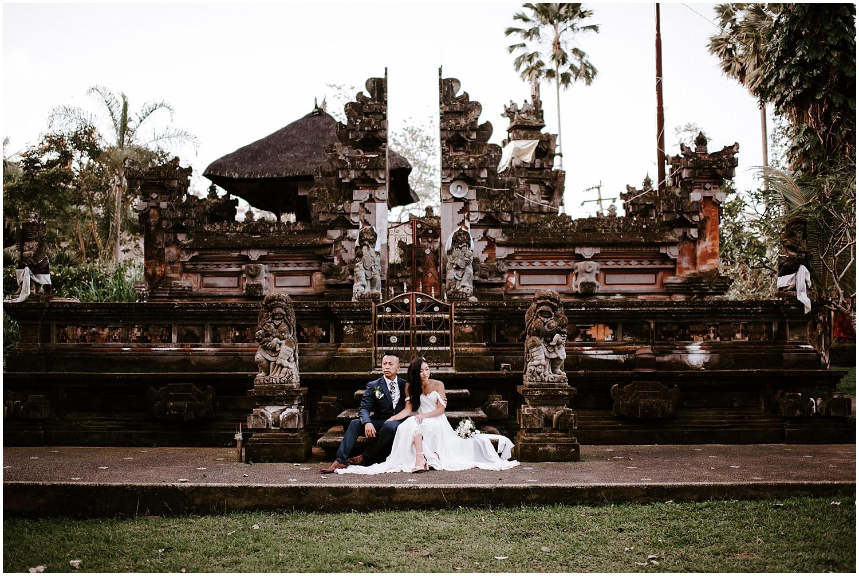 Ubud bali temple wedding photos canadian elopement