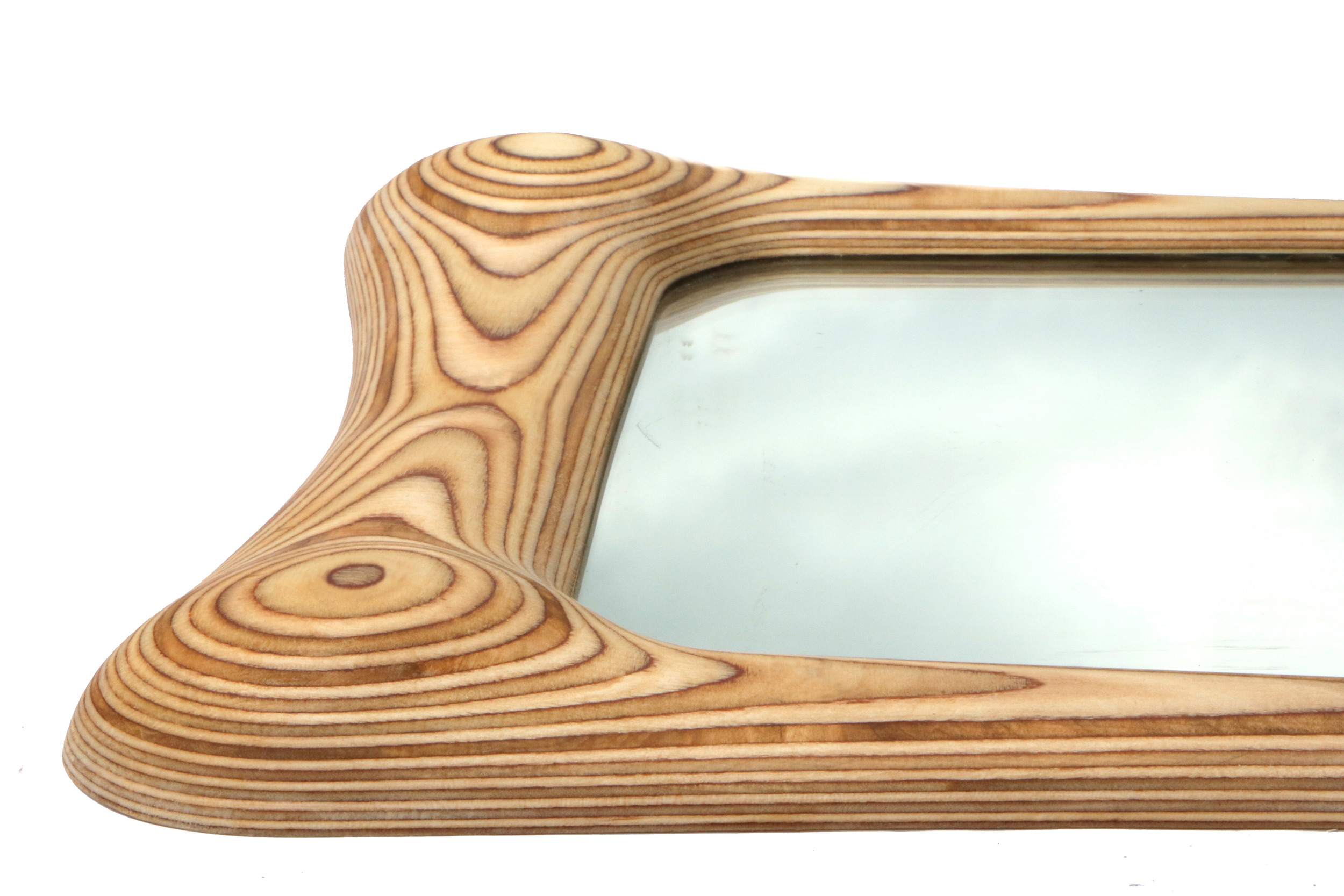 Solid wood mirror frame