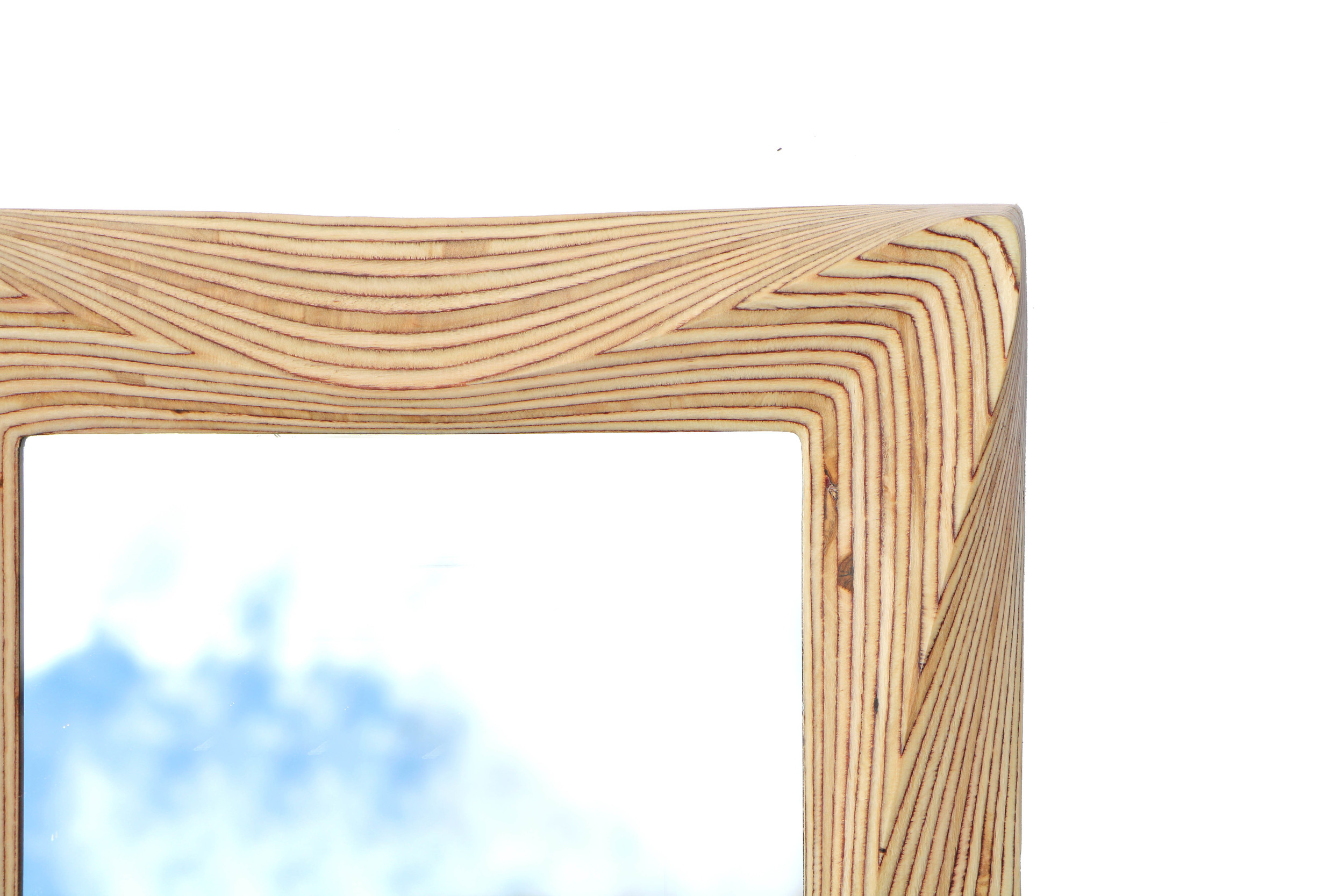 Natural wooden mirror frame