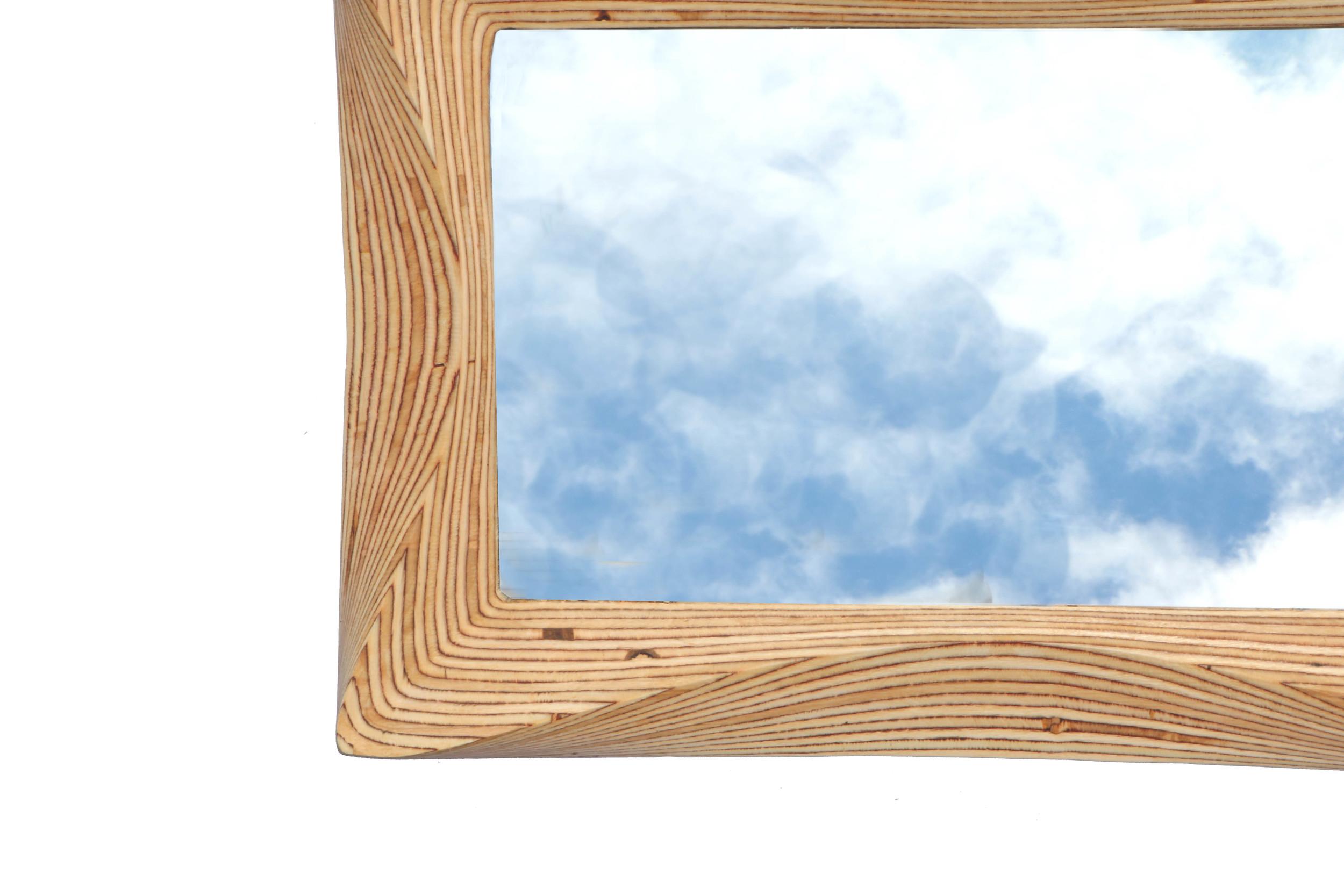 Funky wooden mirror