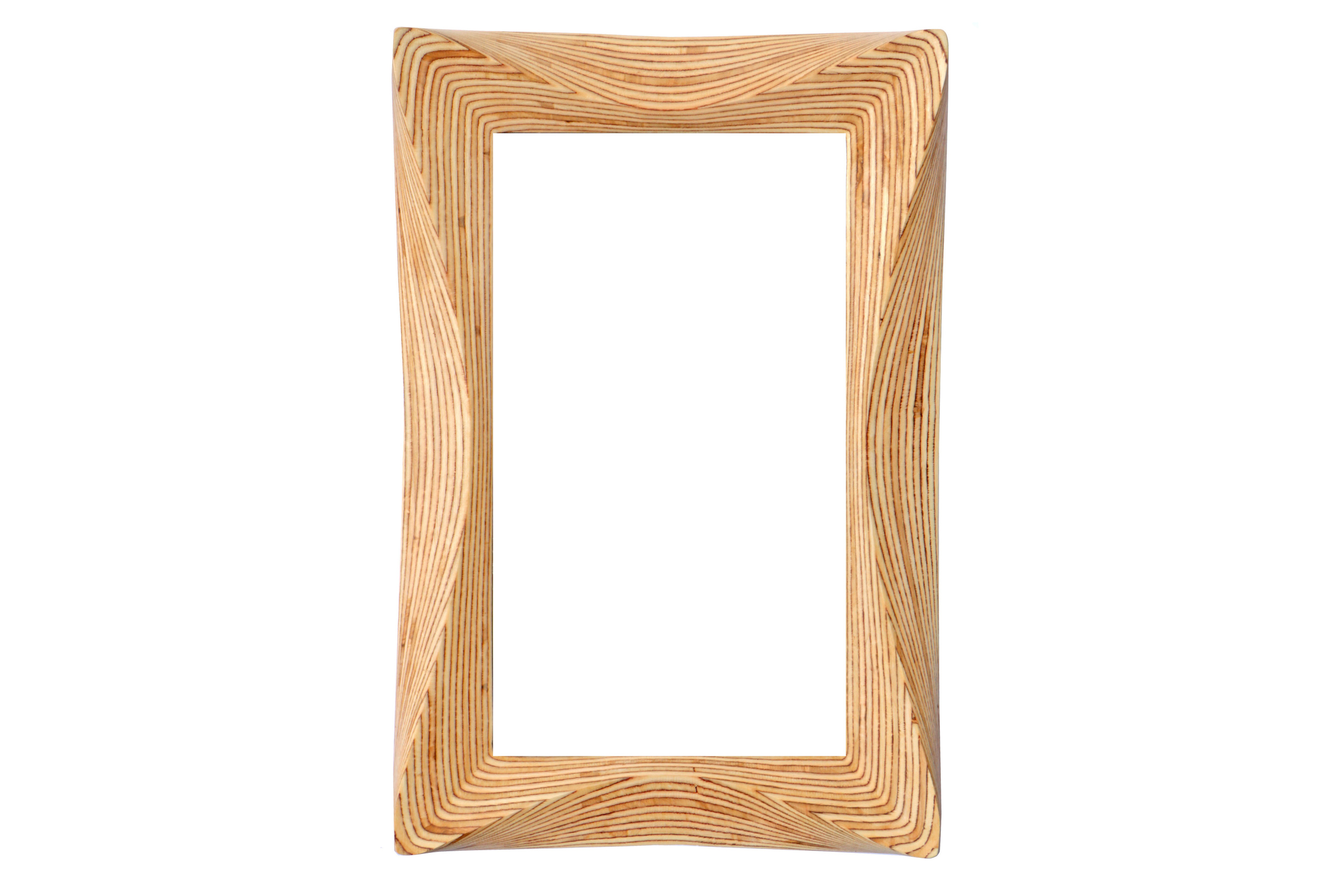 Large wooden mirror frame