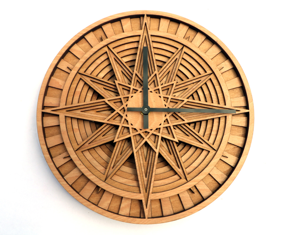 KAIROS layered wooden wall clock