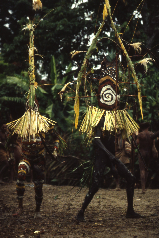 Waina men in ritual attire, Aida ritual, Umeda, 1982 (Photo M. MacKenzie).