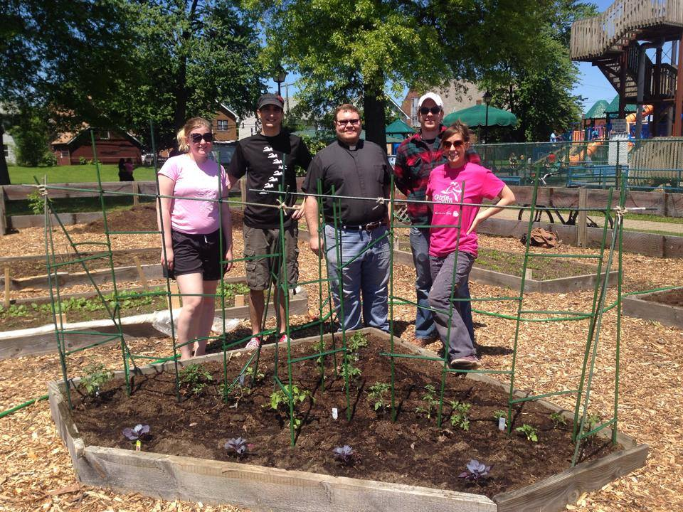 Lakewood Anglican's community garden.