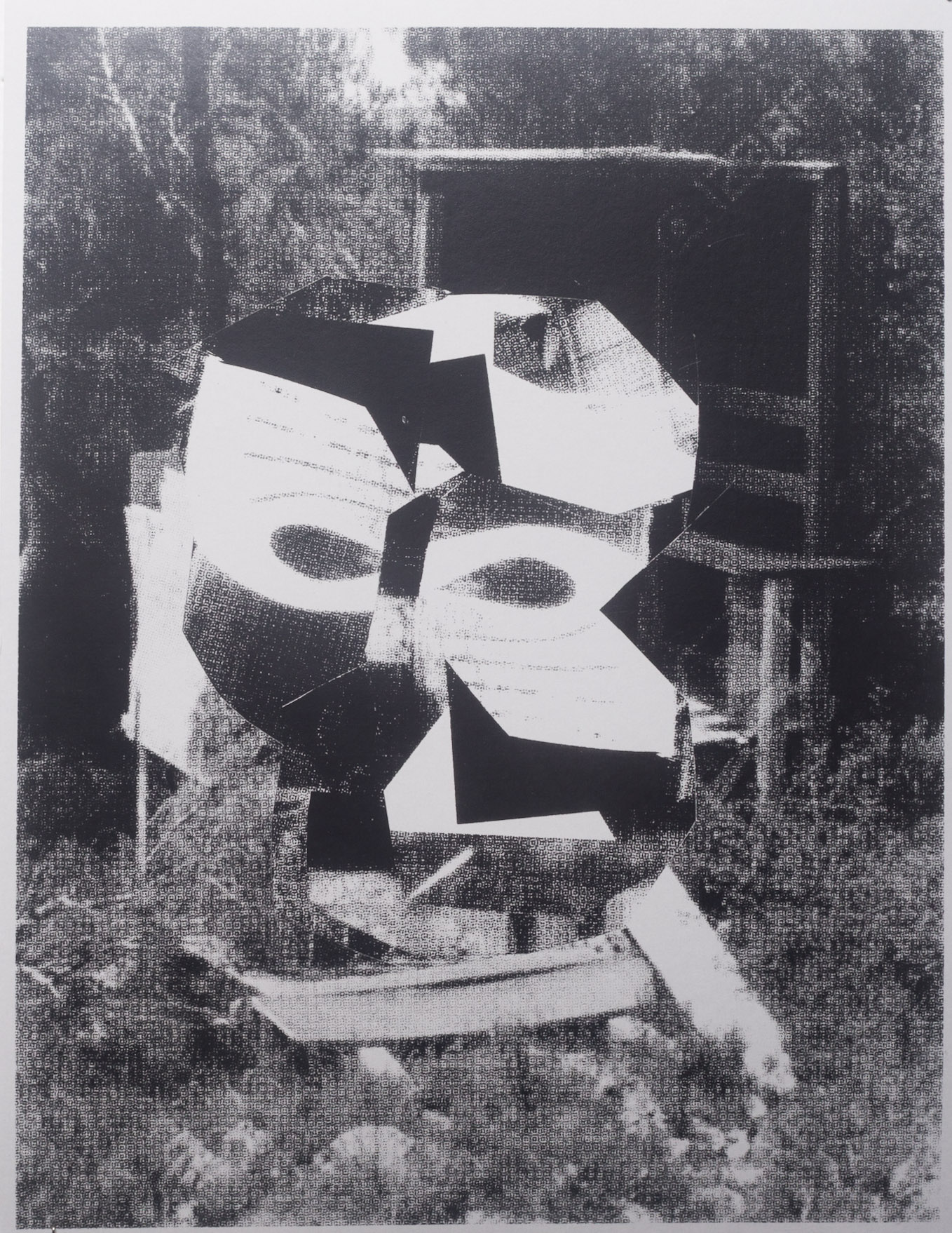 "Untitled, 8.5x11"", photocopy collage, 2018"