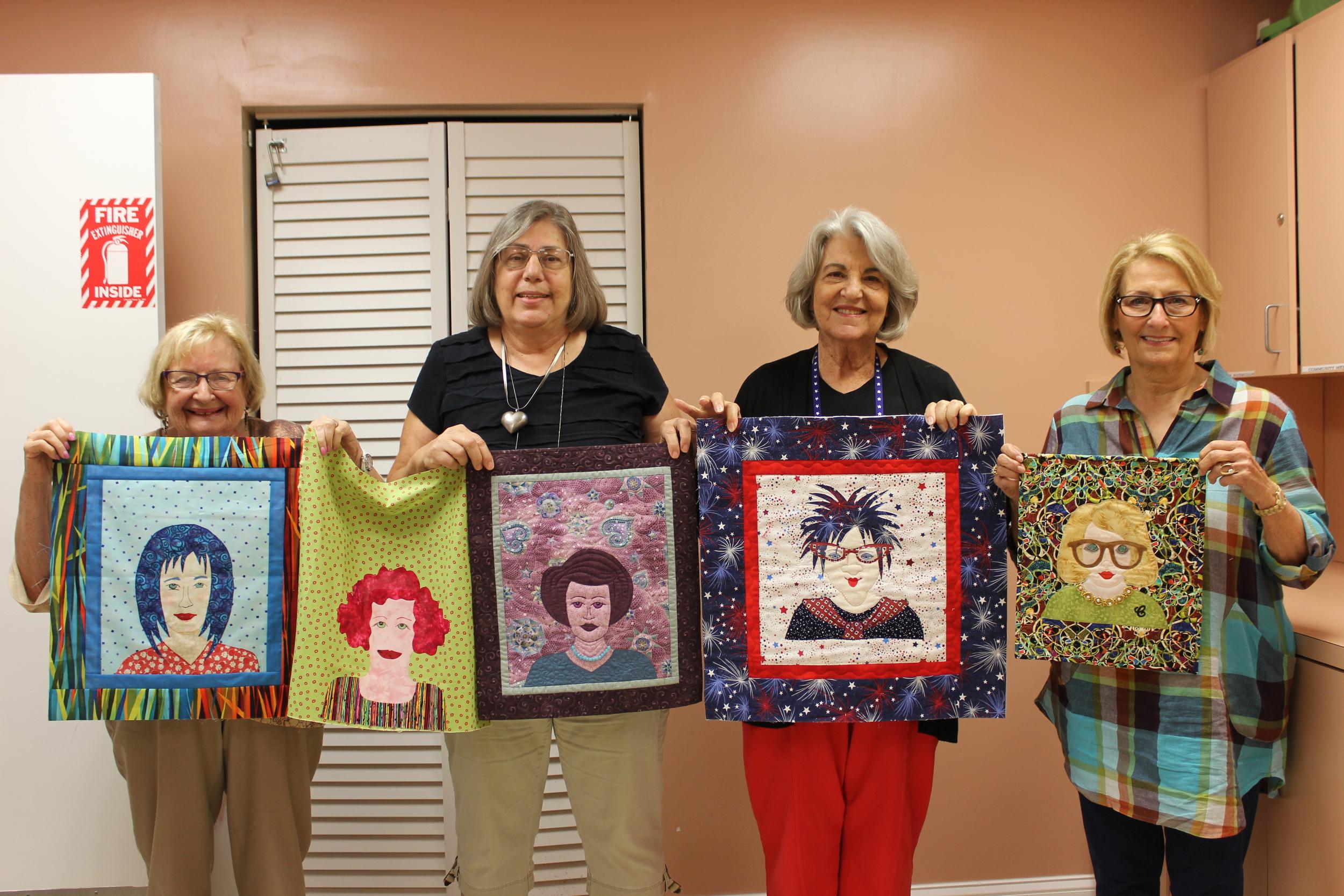 EZ Portrait quilters L-R Doris Sagor, Dorothy McDonnell, Elen Birnbaum, Carol Stoltenberg.JPG