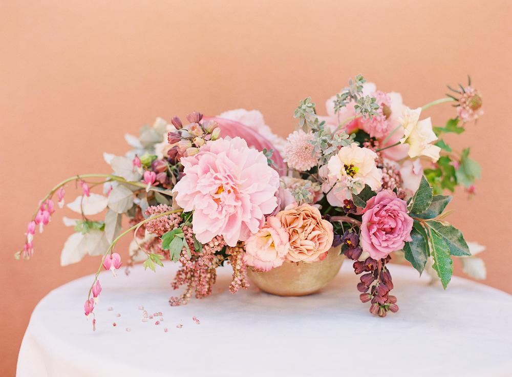 Textured Pink Floral centrepiece - Winnipeg Florist