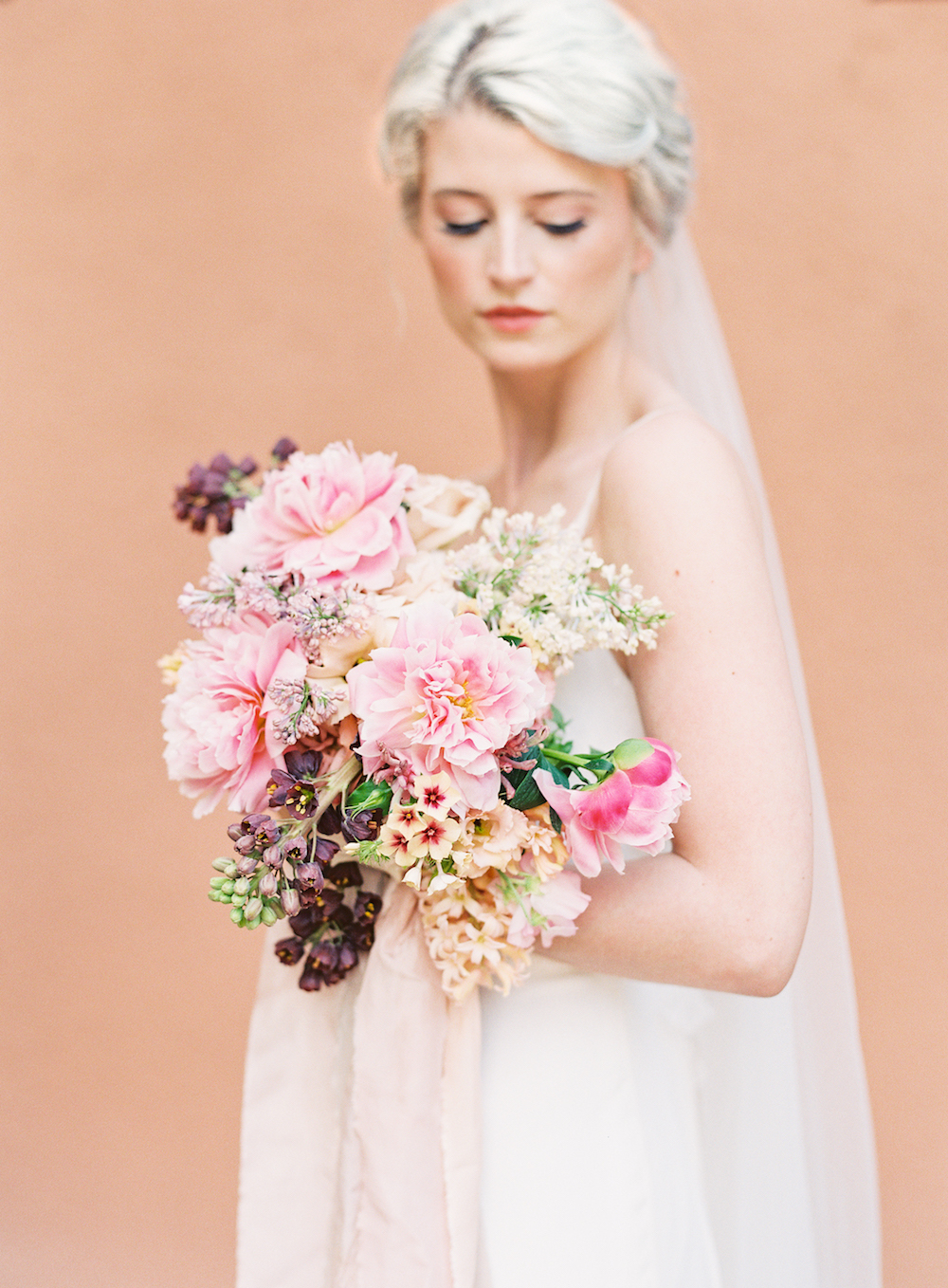 Pink Wedding Bouquet - Stone House Creative