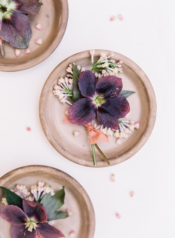 Purple Wedding Flowers - Stone House Creative