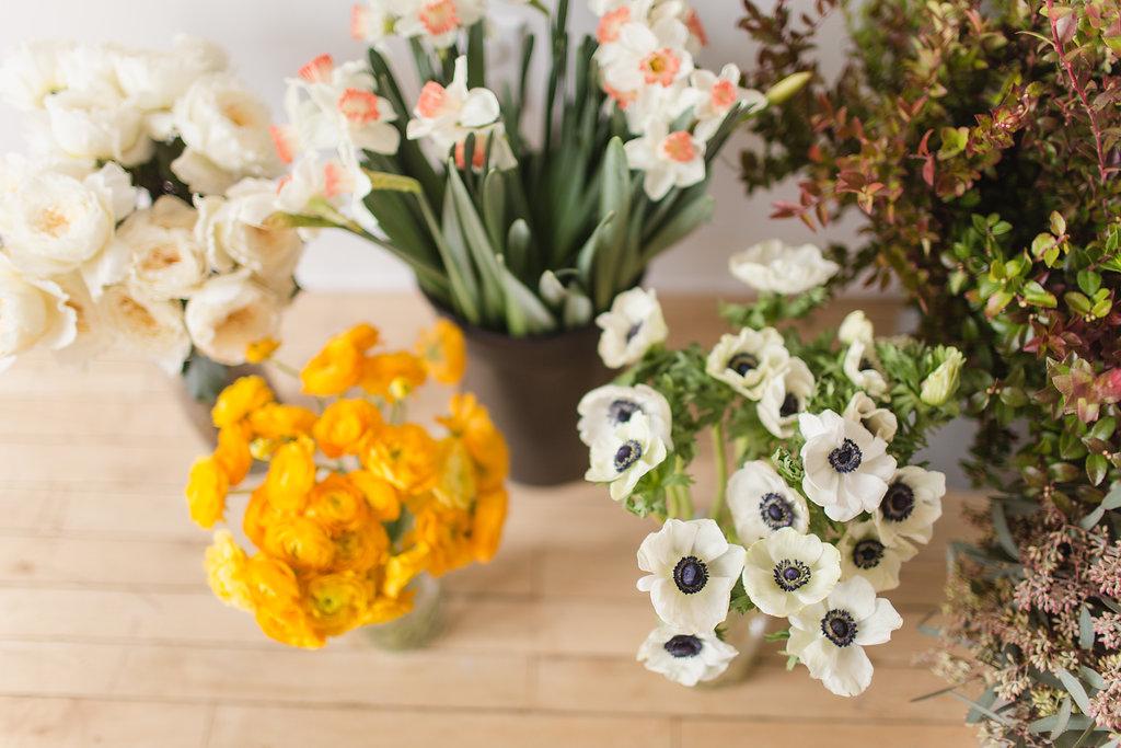Anemone Wedding Flowers - Stone House Creative