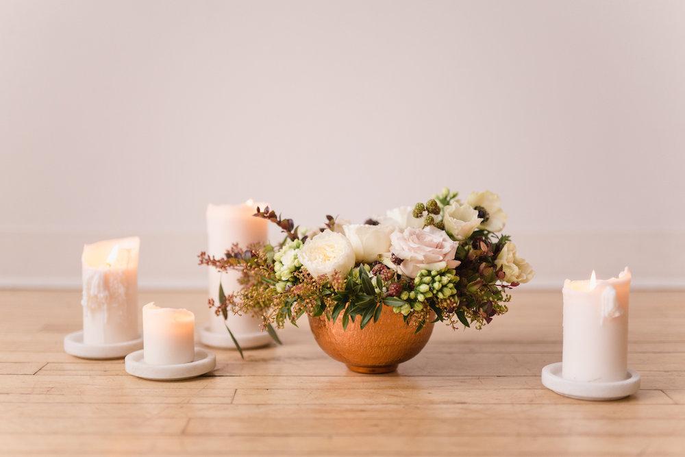 Candle Wedding Centrepiece - Budget Friendly Wedding Decor