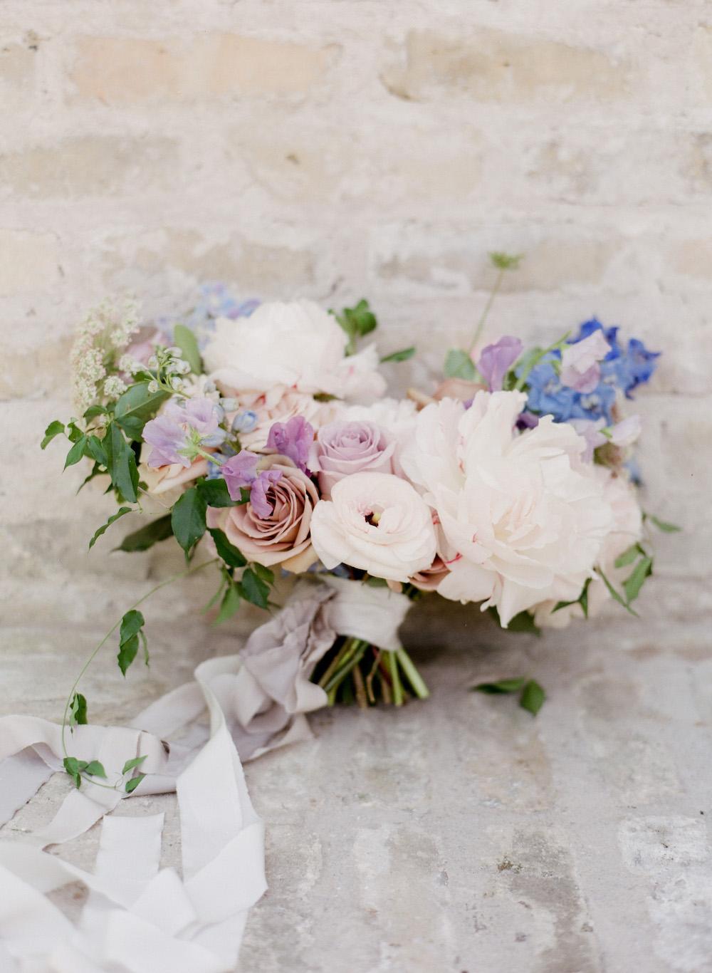 Pastel Bridal Bouquet - Stone House Creative