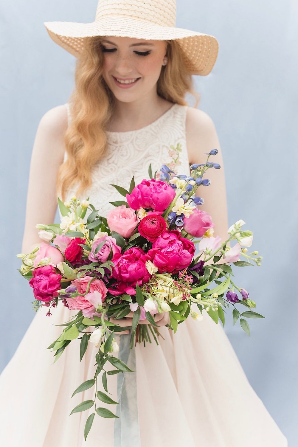Pink Peony Bridal Bouquet - Garden Inspired Wedding Floweres