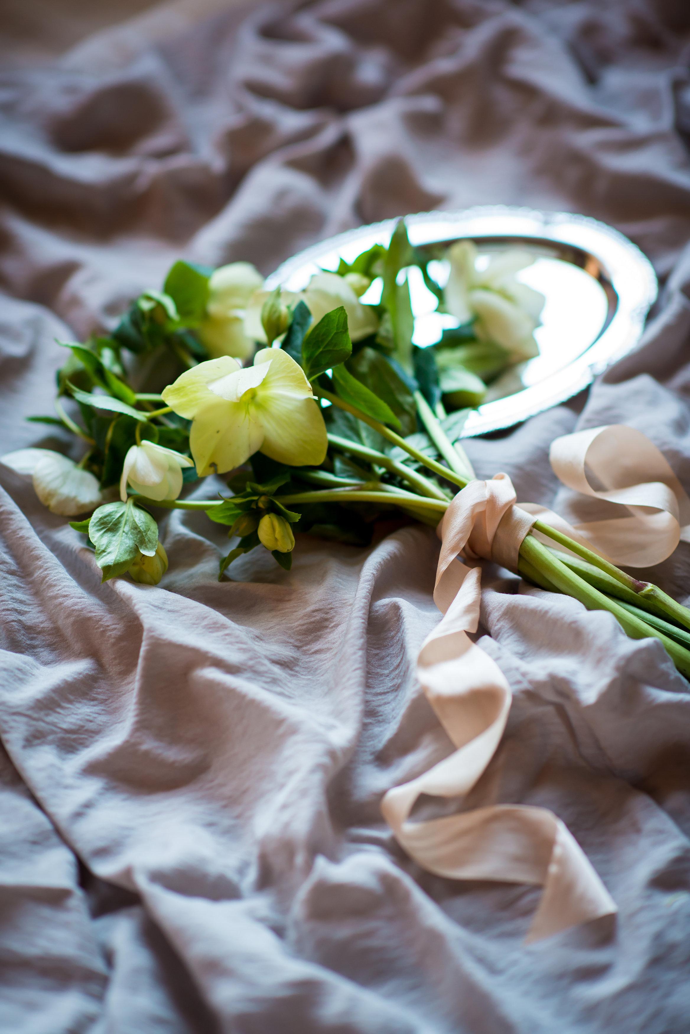 Hellebore wedding flowers - Stone House Creative
