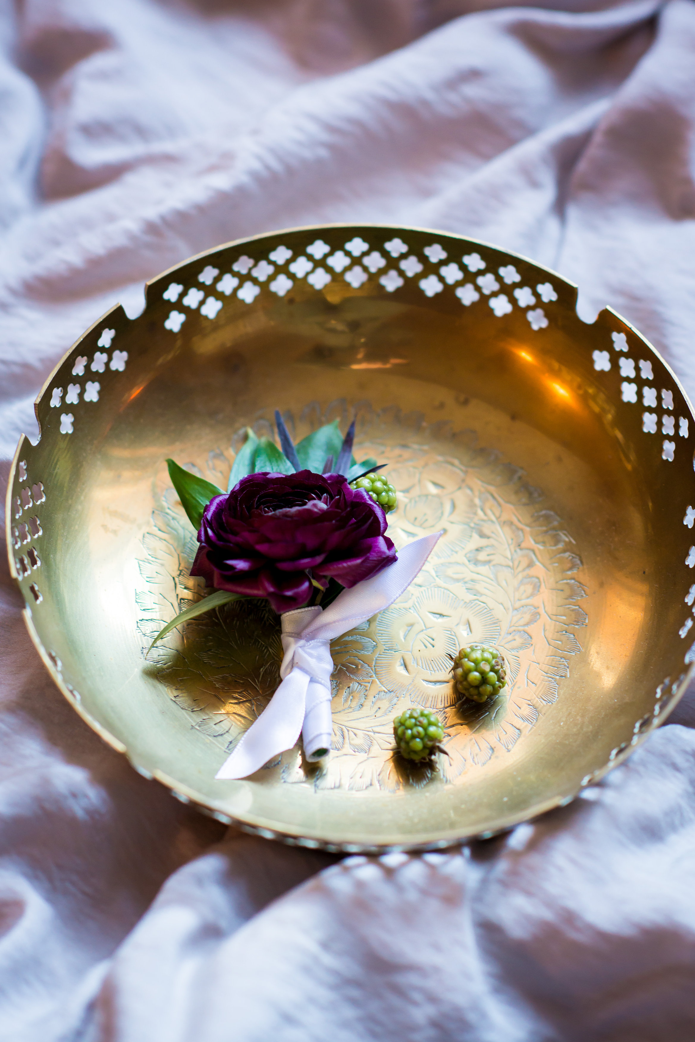 Ranunculus Boutonniere - Winnipeg Wedding florist