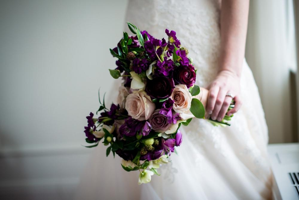 Stone House Creative - Purple Wedding Flowers
