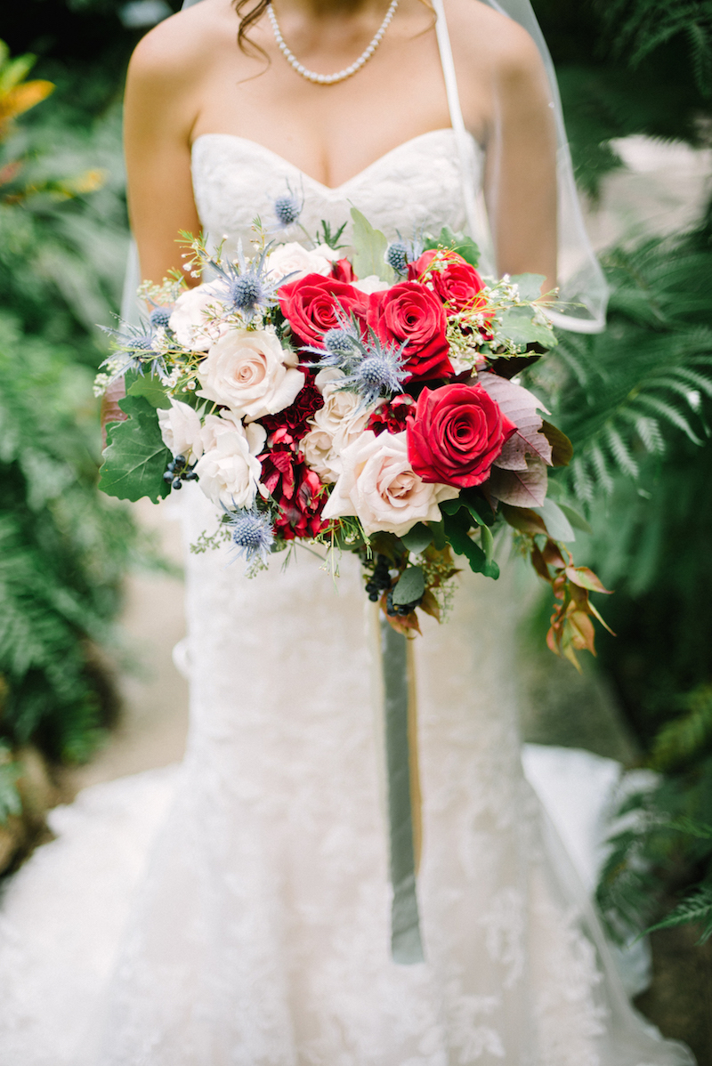 Marsala wedding bouquet - Stone House Creative