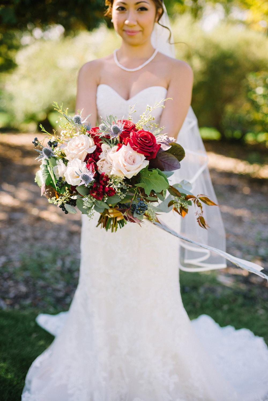 Rose wedding bouquet - stone house creative