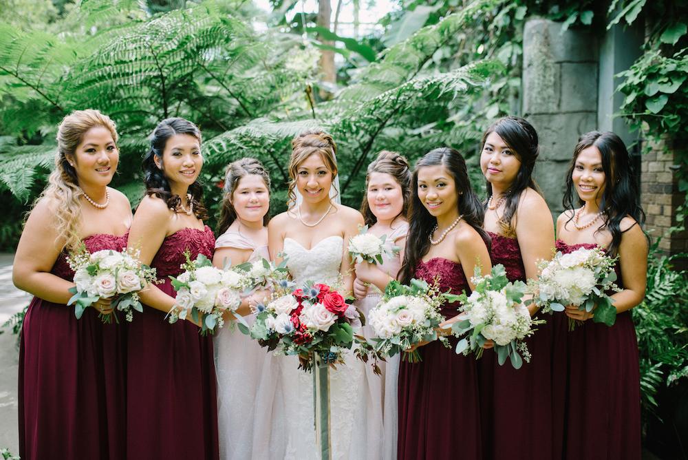 marsala wedding flowers - stone house creative
