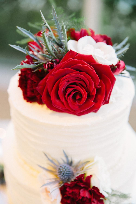 floral wedding cake - stone house creative