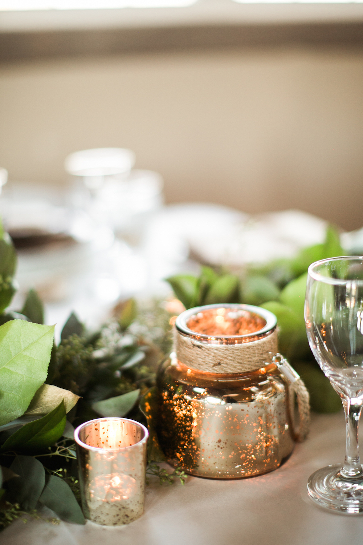 mercury glass wedding decor - winnipeg wedding florist