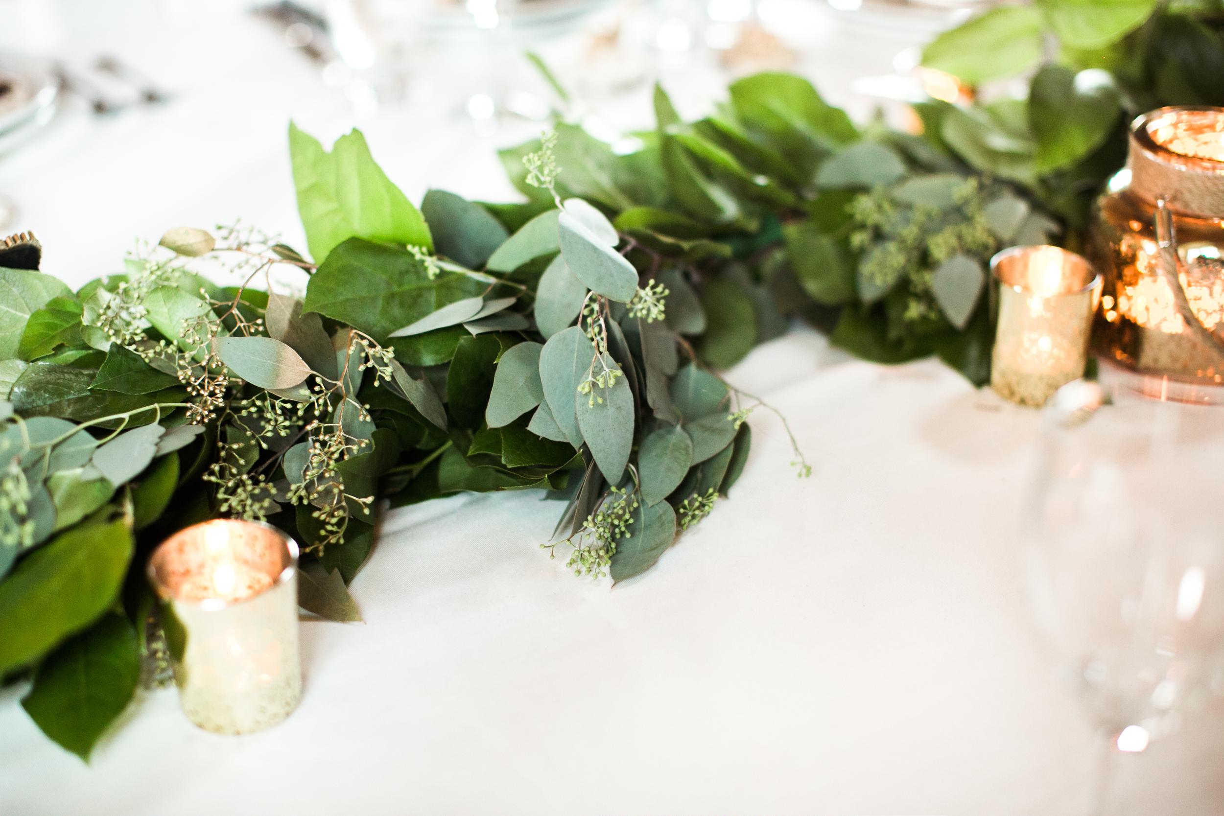 winnipeg wedding florist - gold and green wedding