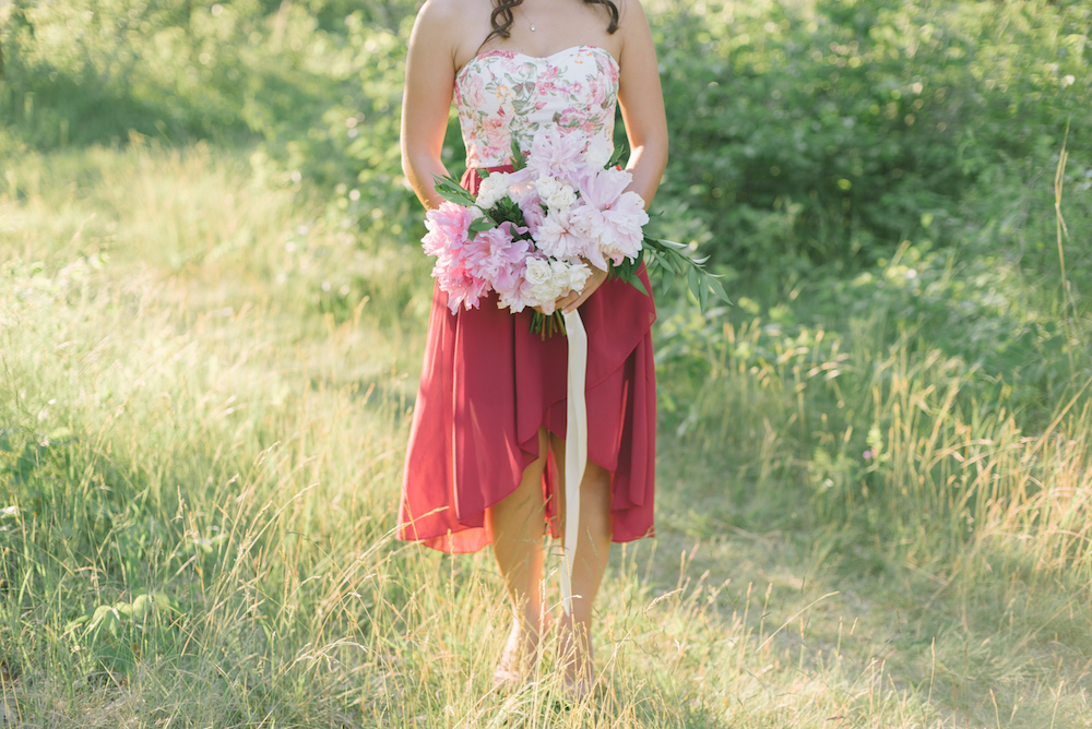 Pink Peony Wedding Bouquet - Stone House Creative